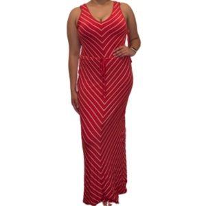 Merona striped maxi dress S